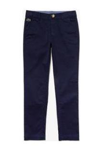 Calça Infantil Lacoste Regular Fit Masculina - Masculino-Azul Navy