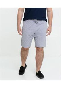 Bermuda Masculina Moletinho Plus Size - Masculino-Cinza