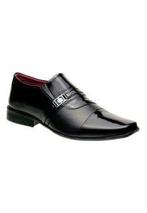Sapato Social Masculino Bico Quadrado 839 Preto
