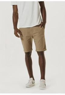 Bermuda De Sarja Com Cadarço - Kg2Kn10Si3 Masculina - Masculino-Marrom