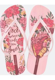 Chinelo Feminino Floral Ipanema