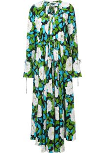 e5b0997e8d Dvf Diane Von Furstenberg Vestido Longo Floral De Seda - Green