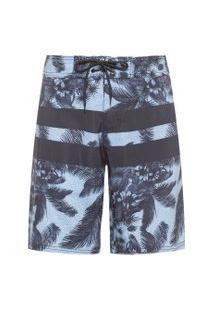 Bermuda Masculina Board Short Camuflada - Azul Marinho