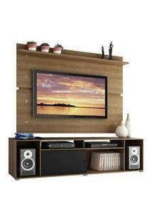 Rack Madesa Cancun E Painel Para Tv Até 65 Polegadas Rustic/Rustic/Preto