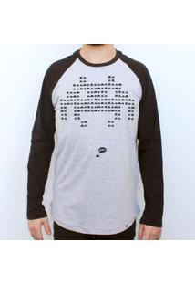 Wtf - Camiseta Raglan Manga Longa Masculina