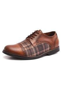 Sapato Social Masculino Vintage Em Couro Whisky Shoes Grand 68151-1
