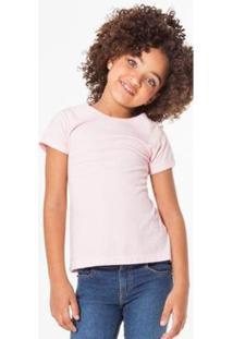 Camiseta Gliter Reserva Mini Feminina - Feminino-Rosa Claro