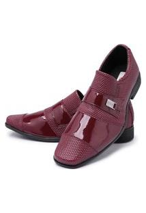 Sapato Social Masculino Mr Shoes Vermelho