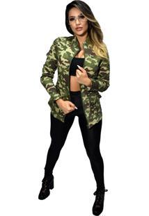 Jaqueta Militar Dalcomuni Camuflada Verde