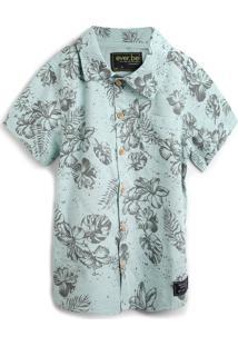 Camisa Ever.Be Menino Folhagem Verde