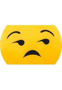 Almofada Capital Do Enxoval Emoji Pouco Caso Estampado