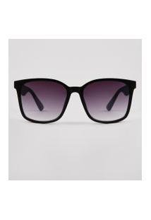 Óculos De Sol Quadrado Unissex Ace Preto