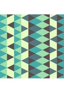 Papel De Parede Adesivo Geométrico Verde (0,58M X 2,50M)