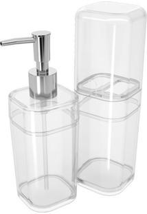 Conjunto Para Banheiro Com 2 Unidades Splash Incolor