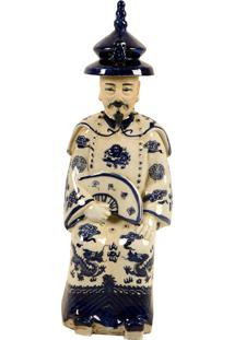 Escultura Decorativa Imperador De Porcelana Yunnan