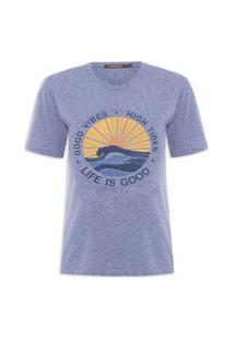 Camiseta Feminina High Tides - Azul