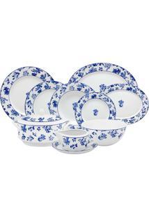 Jogo De Jantar De Porcelana Vista Alegre Chintz Azul - 42 Peças