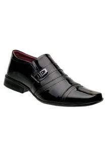 Sapato Social Masculino Bico Quadrado 803 Liso Preto