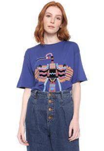 Camiseta Desigual Rina Azul