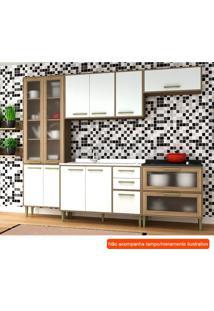 Cozinha Compacta Vitória 10 Pt 5 Gv Branca E Avelã