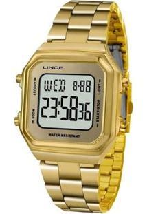 Relógio Lince Digital Feminino - Feminino-Dourado