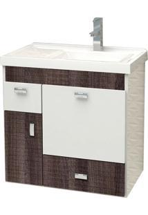 Toucador Para Banheiro Com Cuba 60Cm Dakota - Orquídea - Cozimax - Cozimax