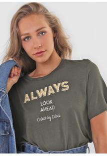 Camiseta Colcci Always Verde