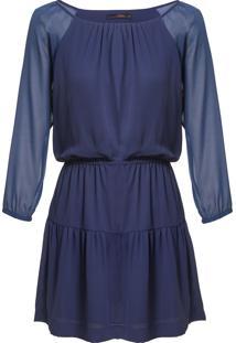 Vestido Leeloo Raglan - Marinho