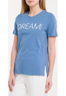 Camiseta Baby Look New Year Dream - Azul Claro - P