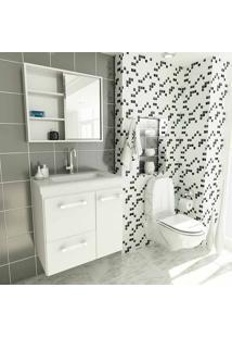 Conjunto Para Banheiro Vetro Ii Branco