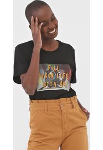 Camiseta Cantão Fill Your Life Preta - Kanui