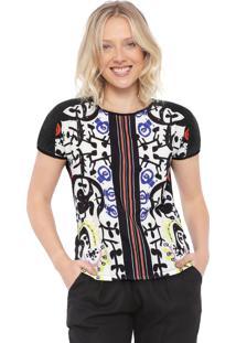 Camiseta Desigual Sabrina Preta/Branca