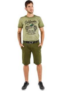 Bermuda Classic Latifundio Masculina - Masculino-Verde Militar
