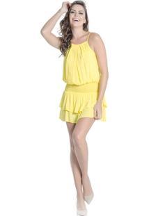Vestido 100% Viscose Cintura Marcada Babados Colcci - Feminino