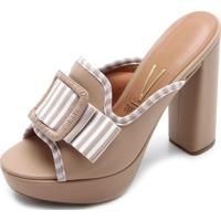 58c4849bc Tamanco Com Salto Listras feminino | Shoes4you