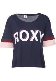 Camiseta Roxy Super Azul-Marinho - Kanui