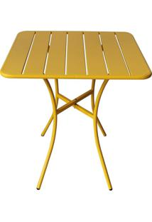 Mesa Quadrada Tropical Amarela