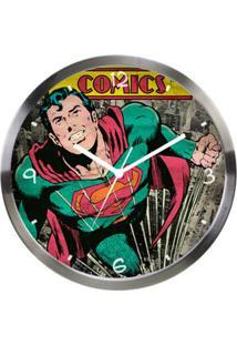 Relógio De Parede Decorativo - Dc Comics - Superman - Metrópole