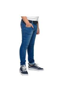 Calça Jeans Skinny Crawling Com Cinto