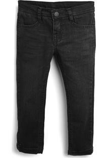Calça Jeans Hering Kids Infantil Lisa Preta