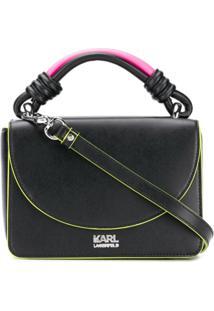 f992223a5 Karl Lagerfeld Bolsa Tote 'K/Neon' - Preto