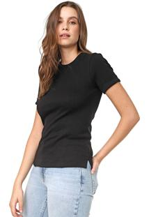 Camiseta Calvin Klein Recortes Preta