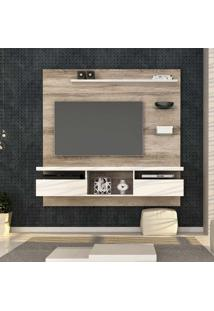 Painel Para Tv 55 Polegadas Antares 160Cm Castanha E Branco