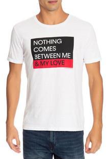Camiseta Ckj Mc Est Ckj Love - Branco - Pp