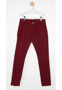 Calça Jeans Express Tito Bordo Vermelho