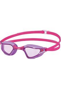Óculos De Natação Sr-72N Lente Lavanda Curvada Rosa Swans