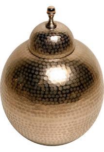 Vaso Decorativo De Metal Snowball