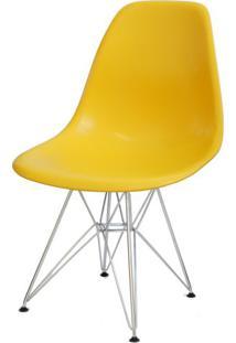 Cadeira Eames Polipropileno Amarelo Base Cromada - 14907 - Sun House