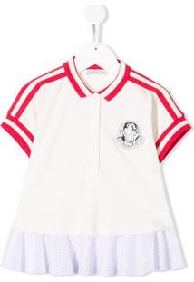Moncler Kids Camisa Polo Com Recortes Contrastantes - Branco