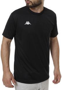 Camiseta De Futebol Masculina Kappa Preto